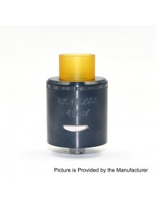Authentic Centsu Vape Hanglee RDA Rebuildable Dripping Atomizer - Black, Stainless Steel, 25mm Diameter