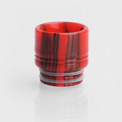 810 Wide Bore Drip Tip for TFV8 / TFV12 Tank / Goon / Kennedy / Mad Dog RDA - Red + Black, Epoxy Resin, 16mm