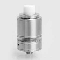 SXK Steam Tuners Style RTA Rebuildable Tank Atomizer - Silver, 316 Stainless Steel, 3ml, 22mm Diameter