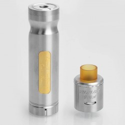 Authentic Centsu Vape Hanglee Hybrid Mechanical Mod + Hanglee RDA Kit - Silver, Stainless Steel, 1 x 18650, 25mm Diameter
