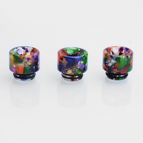 Replacement 810 Drip Tip for TFV8 / TFV12 Tank / Kennedy / 528 Goon RDA - Random Color, Resin, 16.5mm