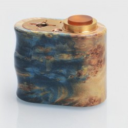 VGME Style Hybrid Mechanical Box Mod - Random Color, Stabilized Wood, 2 x 18350, Series Connection