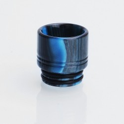 810 Wide Bore Drip Tip for TFV8 / TFV12 Tank / Goon / Kennedy / Mad Dog RDA - Blue + Black, Epoxy Resin, 16mm