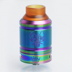 Sherman Style RDA Rebuildable Dripping Atomizer w/ BF Pin - Rainbow, Stainless Steel, 28mm Diameter