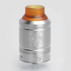 Sherman Style RDA Rebuildable Dripping Atomizer w/ BF Pin - Silver, Stainless Steel, 28mm Diameter