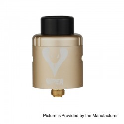 Authentic Vapjoy Viper BF RDA Rebuildable Dripping Atomizer w/ Squonk Pin - Champange Gold, Aluminum + SS, 24mm Diameter