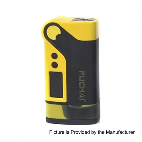 Authentic Sigelei Fuchai Vcigo K2 175W TC VW Variable Wattage Box Mod - Yellow, Zinc Alloy, 10~175W, 2 x 18650