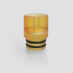 510 Flat Mouthpiece Drip Tip for RDA / RTA / Sub Ohm Tank Atomizer - Brown, PEI, 14.5mm
