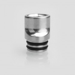 510 Flat Mouthpiece Drip Tip for RDA / RTA / Sub Ohm Tank Atomizer - Silver, Stainless Steel, 14.5mm