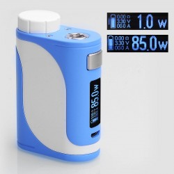 Authentic Eleaf iStick Pico 25 85W TC VW Variable Wattage Mod - Blue + White, Stainless Steel, 1~85W, 1 x 18650