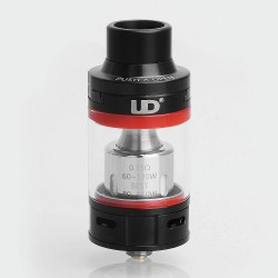 Authentic YouDe UD Zephyrus V3 Sub Ohm Tank Atomizer - Black, Stainless Steel, 5ml, 25mm Diameter