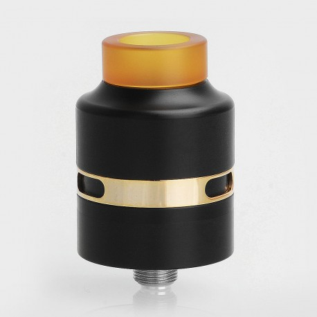 Kindbright H24 Style RDA Rebuildable Dripping Atomizer w/ BF Pin - Black, 316 Stainless Steel, 24mm Diameter