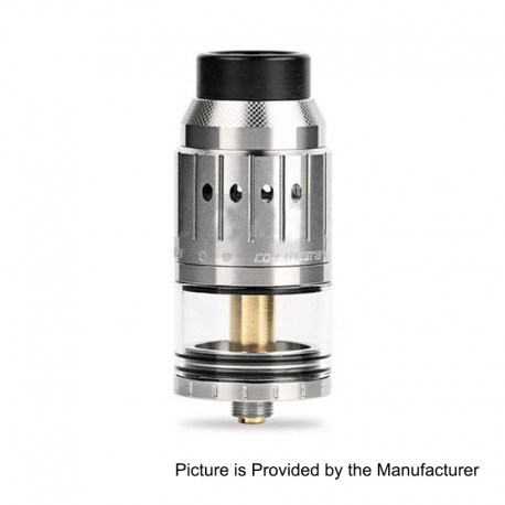 Authentic Coil Master Genesis RDTA Rebuildable Dripping Tank Atomizer - Silver, Stainless Steel, 6ml, 25mm Diameter