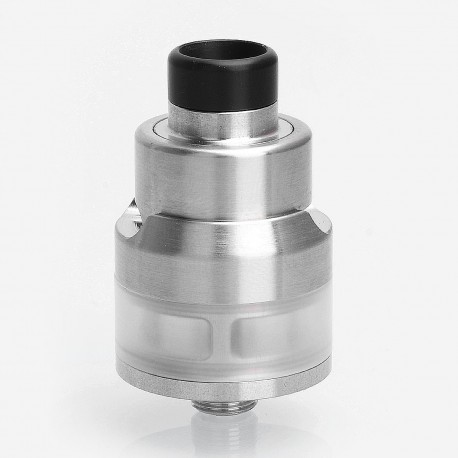 LieFeng NextEra Style RTA Rebuildable Dripping Atomizer w/ BF Pin - Silver, 316 Stainless Steel, 2ml, 22mm Diameter