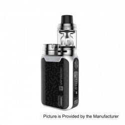 Authentic Vaporesso Swag 80W TC VW Variable Wattage Box Mod + NRG SE Tank Kit - Silver, 5~80W, 1 x 18650, 3.5ml, 22mm Diameter