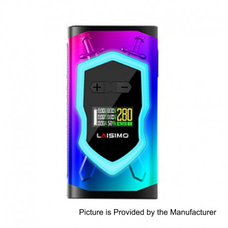Authentic Laisimo Knight 280W TC VW Variable Wattage Box Mod - Rainbow, 10~280W, 2 x 18650
