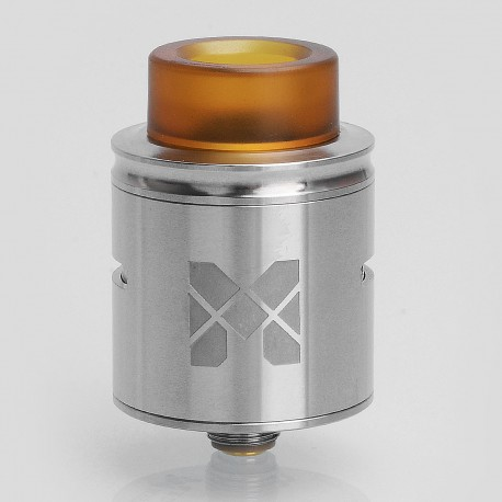 Authentic Vandy Vape MESH RDA Rebuildable Dripping Atomizer w/ BF Pin - Silver, Stainless Steel, 24mm Diameter