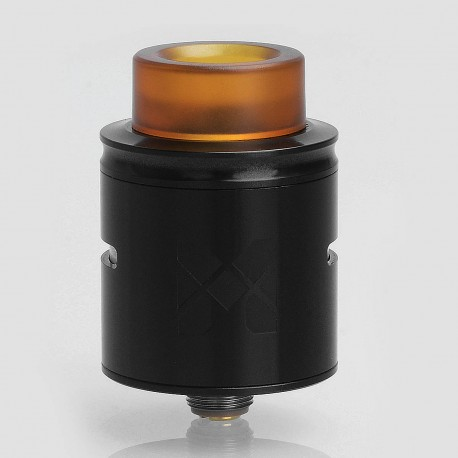Authentic Vandy Vape MESH RDA Rebuildable Dripping Atomizer w/ BF Pin - Black, Stainless Steel, 24mm Diameter