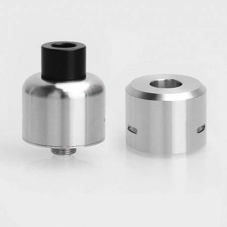YFTK Gambit Style RDA Rebuildable Dripping Atomizer w/ BF Pin - Silver, 316 Stainless Steel, 22mm Diameter