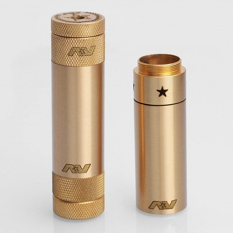 Able XL Stacked Style Extended Hybrid Mechanical Mod - Brass, Brass, 2 x 18650