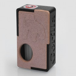 Authentic YiLoong Gorilla 3D Printed Squonk Mechanical Box Mod - Orange, 1 x 18650, 13ml Dropper Bottle
