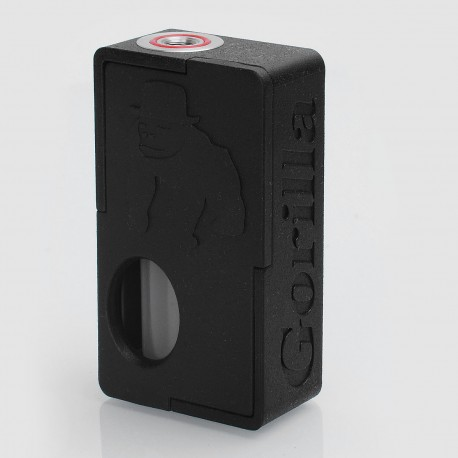 Authentic YiLoong Gorilla Box 3D Printed Squonk Mechanical Box Mod - Black, 1 x 18650, 13ml Dropper Bottle