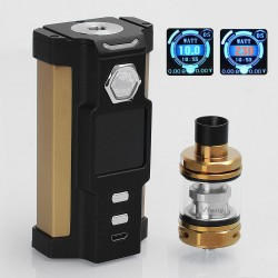 Authentic Sigelei Snowwolf Vfeng 230W VW Variable Wattage Box Mod + Vfeng Tank Kit - Black, 10~230W, 2 x 18650, 3ml, 24mm