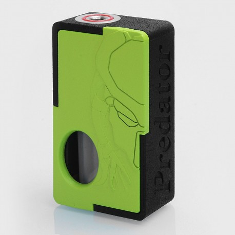 Authentic Yiloong Predator 3D Print BF Squonk Mechanical Box Mod - Black + Green, Nylon, 1 x 18650, 13ml