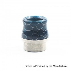 810 Replacement Wide Bore Drip Tip for Kennedy 24 / 25 / Mad Dog / Battle RDA - Blue, Resin + Stainless Steel, 17.5mm