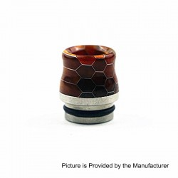 810 Replacement Wide Bore Drip Tip for TFV8 / TFV8 Big Baby / TFV12 Tank - Orange, Resin + Stainless Steel, 17.5mm