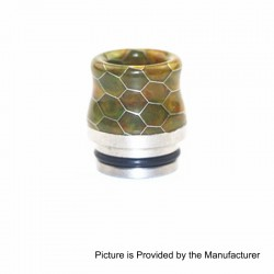810 Replacement Wide Bore Drip Tip for TFV8 / TFV8 Big Baby / TFV12 Tank - Yellow, Resin + Stainless Steel, 17.5mm