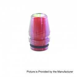 810 Replacement Wide Bore Drip Tip for TFV8 / TFV12 Tank / Goon / Kennedy RDA - Purple, Epoxy Resin, 23mm