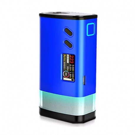Authentic Sigelei Fuchai GLO 230W TC VW Variable Wattage Mod - Blue, Aluminum Alloy + Zinc Alloy, 10~230W, 2 x 18650