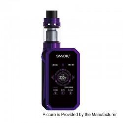 Authentic SMOKTech SMOK G-Priv 2 230W TC VW Box Mod + TFV8 X-Baby Tank Standard Kit - Purple Black, 1~230W, 4ml, 2 x 18650