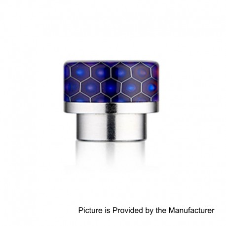 810 Replacement Wide Bore Drip Tip for 528 Goon / Kennedy / Battle RDA - Purple, Resin + Stainless Steel, 14mm
