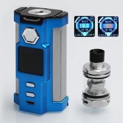Authentic Sigelei Snowwolf Vfeng 230W VW Variable Wattage Box Mod + Vfeng Tank Kit - Blue, 10~230W, 2 x 18650, 3ml, 24mm
