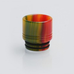 810 Wide Bore Drip Tip for TFV8 / TFV12 Tank / Goon / Kennedy / Mad Dog RDA - Yellow + Red, Epoxy Resin, 16mm