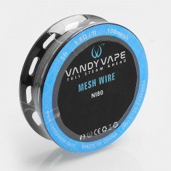 Authentic Vandy Vape Ni80 Mesh Wire DIY Heating Wire for Mesh RDA - 1.8 Ohm / Ft, 5 Feet (100 Mesh)