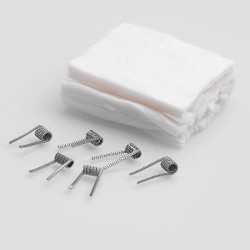 Authentic Claptonwire Coils + Cotton Kit for DIY Coiling - Advanced Coils (6 PCS) + Pre-cut Cottons (12 PCS)