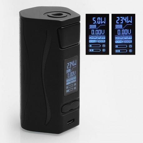 Authentic IJOY Genie PD270 234W TC 3000mAh VW Box Mod w/ Battery - Black, 5~234W, 2 x 20700