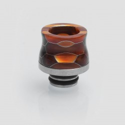 510 Replacement Wide Bore Drip Tip for TFV8 Baby Tank - Orange, Resin + Stainless Steel, 17.5mm