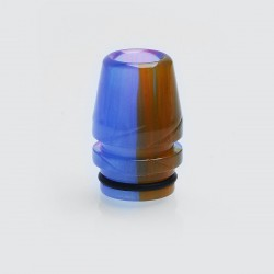 810 Replacement Wide Bore Drip Tip for TFV8 / TFV12 Tank / Goon / Kennedy RDA - Blue, Epoxy Resin, 23mm