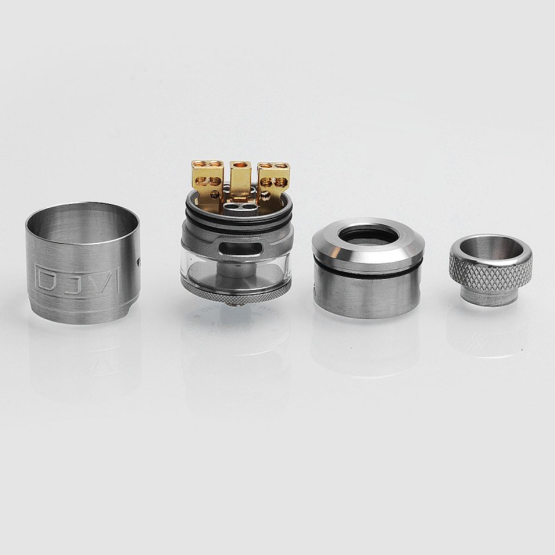 18046 Authentic Dejavu Rdta Rebuildable Dripping Tank Atomizer Silver Stainless Steel 2ml 24mm Diameter on easy tesla coil