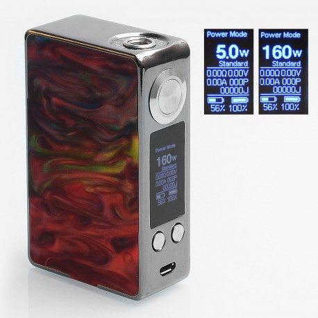 Authentic Aleader Funky 160W TC VW Variable Wattage Box Mod - Gun Metal + Random Color, SS + Resin, 1~160W, 2 x 18650