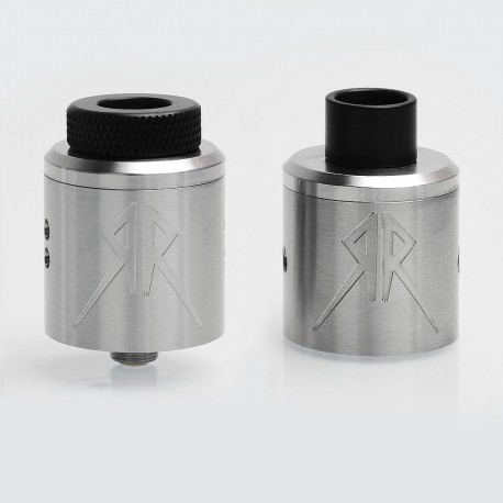 Recoil Rebel Style RDA Rebuildable Dripping Atomizer - Silver, Stainless Steel, 25mm Diameter