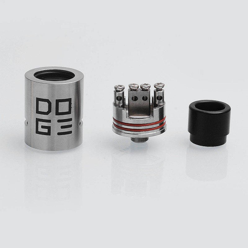 Doge V3 Style Rda Silver Ss 22mm Rebuildable Dripping Atomizer