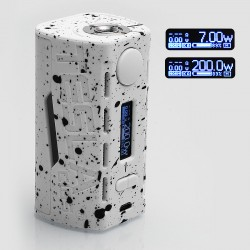 Authentic Tesla WYE 200W TC VW Variable Wattage Box Mod - White, ABS + PC, 7~200W, 2 x 18650