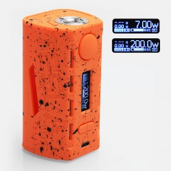 Authentic Tesla WYE 200W TC VW Variable Wattage Box Mod - Orange, ABS + PC, 7~200W, 2 x 18650