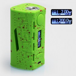 Authentic Tesla WYE 200W TC VW Variable Wattage Box Mod - Green, ABS + PC, 7~200W, 2 x 18650