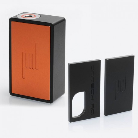 Icarus Style BF Squonk Mechanical Box Mod w/ Extra Black Front + Back Cover Plates - Orange, Aluminum, 8ml, 1 x 18650